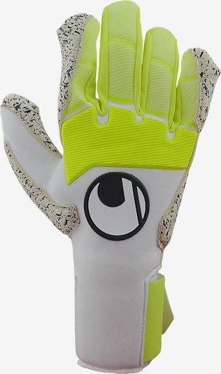 UHLSPORT Handschuh in gelb / schwarz / weiß, Produktansicht