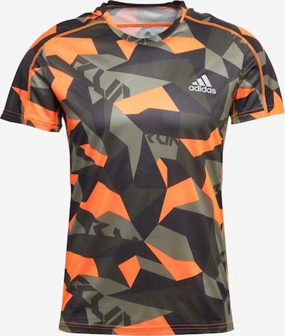 ADIDAS PERFORMANCE T-Shirt fonctionnel en kaki / orange / noir, Vue avec produit
