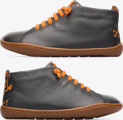 CAMPER Bottes ' Peu Cami ' en gris / orange: Vue de face