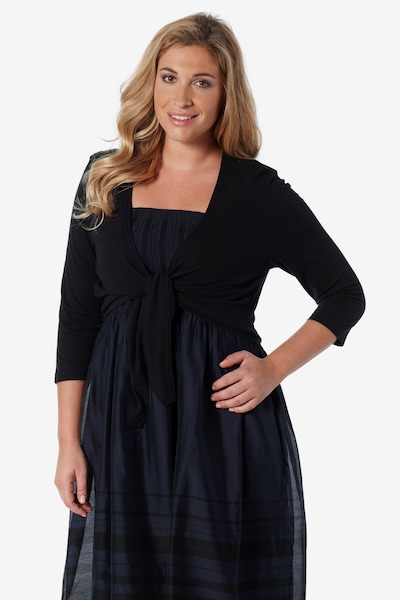 Ulla Popken Bolero '683810' in de kleur Zwart, Modelweergave