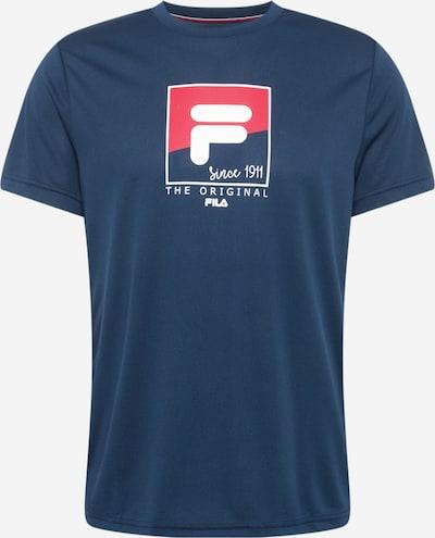 FILA Sportshirt 'Sandro' in dunkelblau / grenadine / weiß, Produktansicht