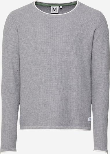 Hailys Men Пуловер 'Ivan' в светлосиво / бяло, Преглед на продукта
