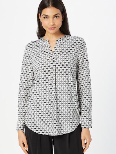 OUI Bluse in pastellblau / grau / dunkelgrau / weiß, Modelansicht