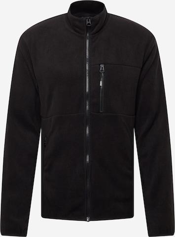 Only & Sons Fleece jacket 'DAVIS' in Black