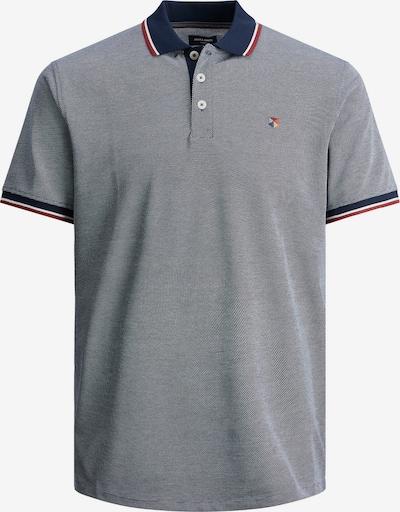 JACK & JONES T-Shirt en bleu marine / bleu-gris / rouge / blanc, Vue avec produit