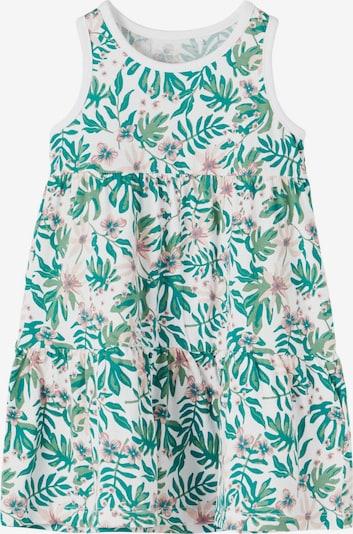 NAME IT Vestido 'Vigga' en jade / verde claro / rosa claro / blanco, Vista del producto