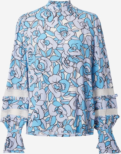 Fabienne Chapot Blouse in de kleur Blauw / Gemengde kleuren, Productweergave