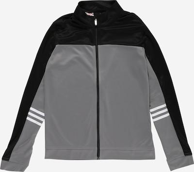 adidas Golf Sportjacke in grau / schwarz / weiß, Produktansicht