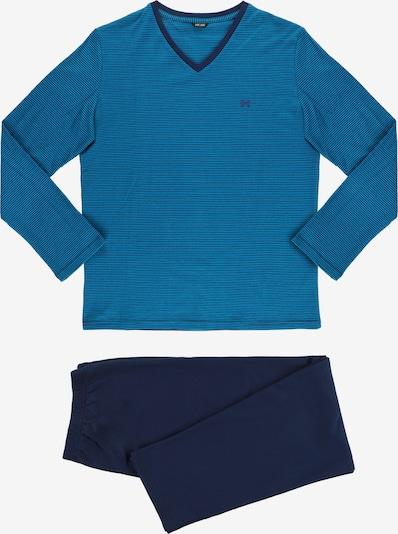 HOM Pyjama long ' Guillaume ' en bleu, Vue avec produit