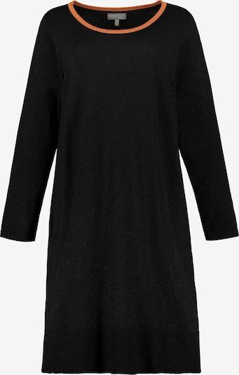 Ulla Popken Kleid in orange / schwarz, Produktansicht