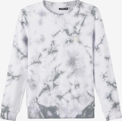 LMTD Sweat 'Nikki' en gris clair / blanc, Vue avec produit