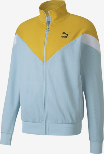 PUMA Trainingsjacke in hellblau / senf / weiß, Produktansicht