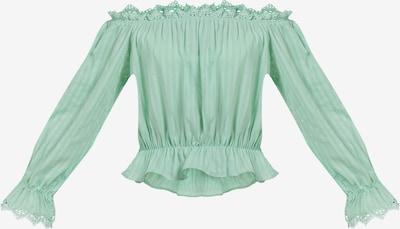 MYMO Blouse in de kleur Mintgroen, Productweergave