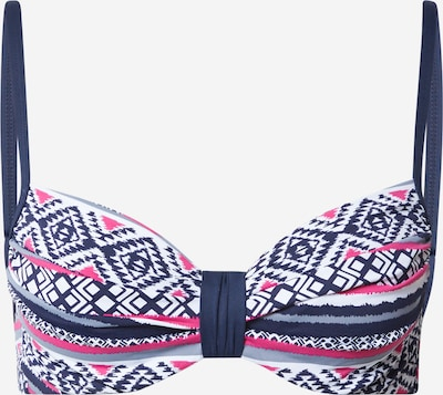 LASCANA Top de bikini en navy / rosa oscuro / blanco perla, Vista del producto