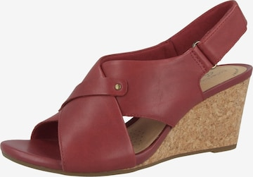CLARKS Sandale 'Margee Eve' in Rot