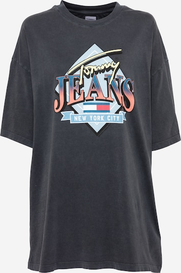 Tommy Jeans Свободна дамска риза в синьо / светлосиньо / светложълто / розово / черно: Изглед отпред