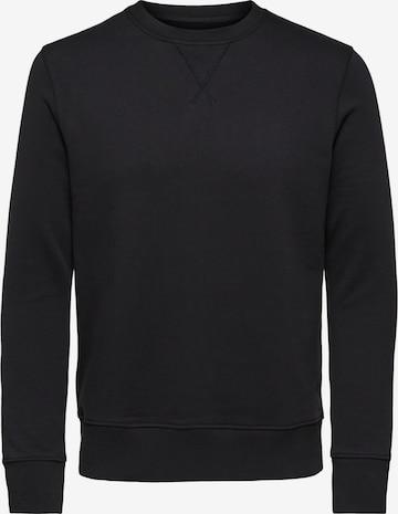 SELECTED HOMME Sweatshirt  'JASON' in Schwarz