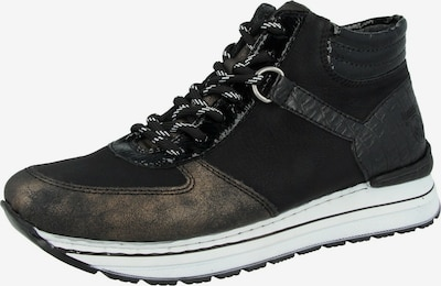 RIEKER Hög sneaker i guld / svart, Produktvy