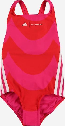 ADIDAS PERFORMANCE Maillot de bain de sport en rose / rouge / blanc, Vue avec produit