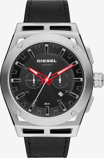 DIESEL Uhr in rot / schwarz / silber, Produktansicht