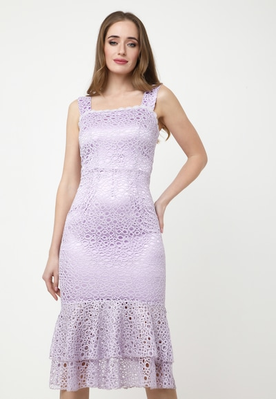 Madam-T Kleid 'Romena' in flieder, Modelansicht