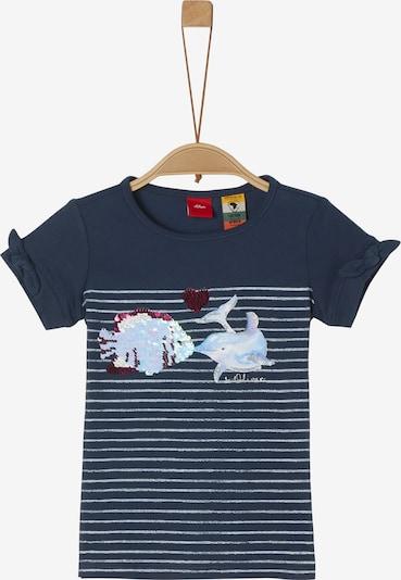 s.Oliver T-Shirt in nachtblau / weiß, Produktansicht