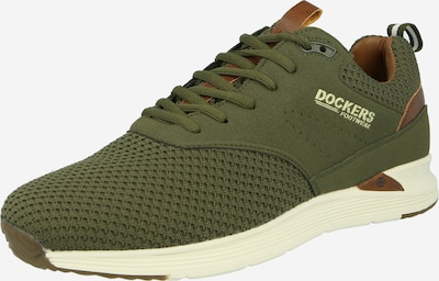Sneaker bassa Dockers by Gerli di colore marrone / cachi / bianco, Visualizzazione prodotti