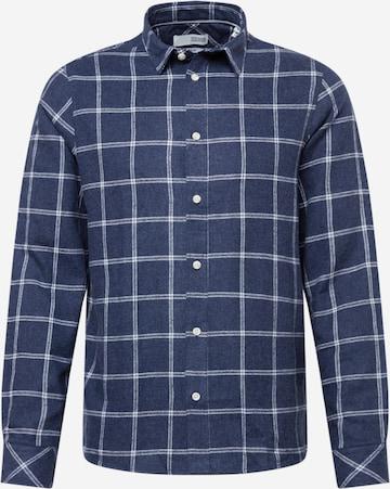 !Solid Риза в синьо