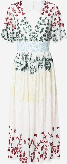 Frock and Frill Dress in Beige / Light blue / Green / Red / White, Item view