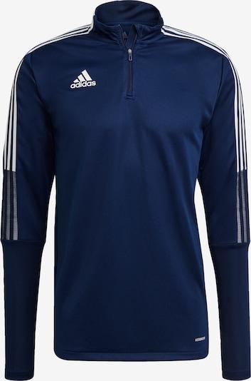 ADIDAS PERFORMANCE Sportsweatshirt 'Tiro 21' in dunkelblau / weiß, Produktansicht