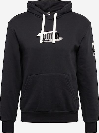 PUMA Sportsweatshirt 'Rebel' in de kleur Zwart / Wit, Productweergave