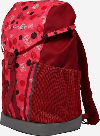 VAUDE Sportrucksack 'Puck 10' in grau / pink / weinrot, Produktansicht