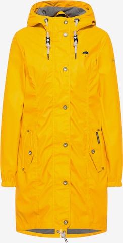 Schmuddelwedda Outdoor Coat in Yellow