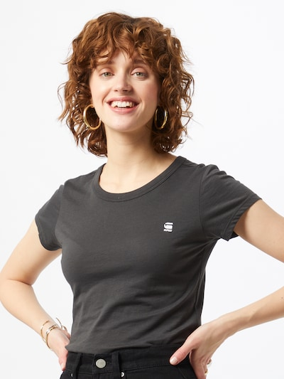 G-Star RAW Koszulka 'Eyben' w kolorze grafitowym: Widok z przodu
