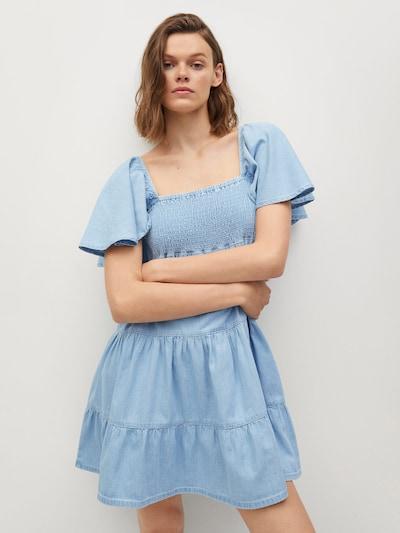 MANGO Kleid ' DULIPA' in blue denim, Modelansicht