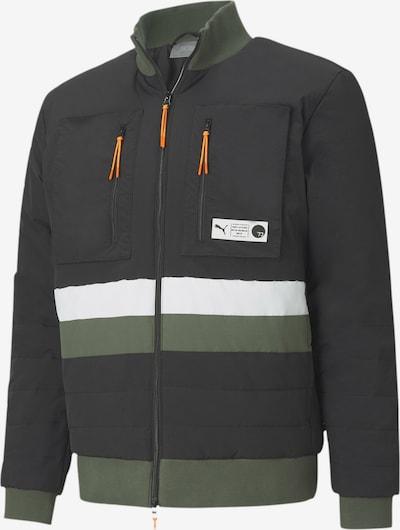 PUMA Winterjas in de kleur Kaki / Sinaasappel / Zwart / Wit, Productweergave