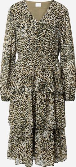 VILA Kleid 'Fulla' in braun / dunkelgrün / schwarz / weiß, Produktansicht