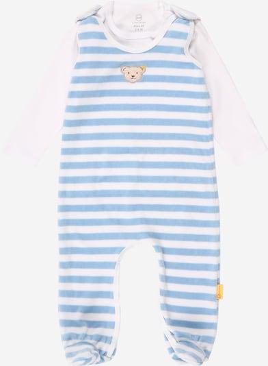 Steiff Collection Strampler + T-Shirt in hellblau / hellbraun / weiß, Produktansicht
