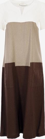 HELMIDGE Kleid in hellbraun / dunkelbraun / weiß, Produktansicht