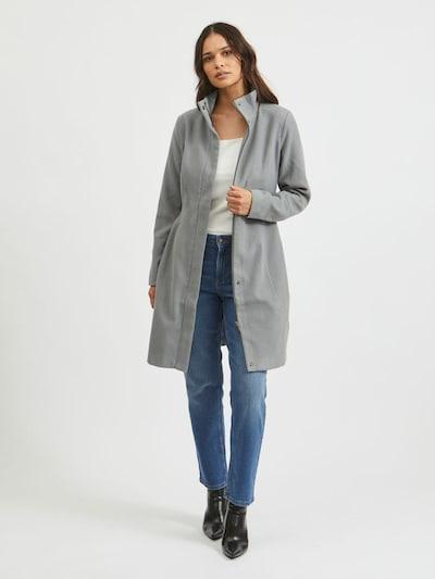 Vila Petite Between-Seasons Coat 'Poku' in Grey, View model