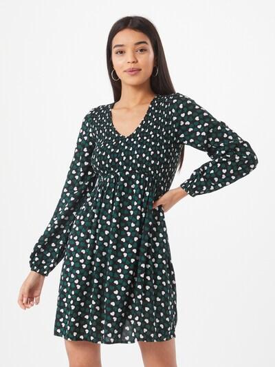Dorothy Perkins Kleid in dunkelgrün / schwarz / weiß, Modelansicht