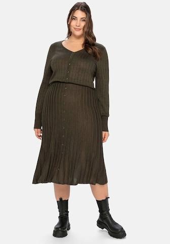 SHEEGO Gebreide jurk in Groen