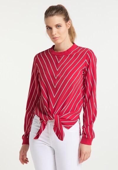 DreiMaster Maritim Bluse in rot / weiß, Modelansicht