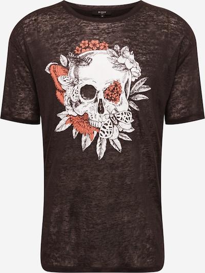 BE EDGY Tričko 'Skull' - světle červená / černá / bílá, Produkt