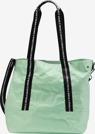 myMo ATHLSR Shopper in mint / schwarz / weiß, Produktansicht