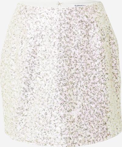GLAMOROUS Rok in de kleur Rosa / Zilver / Wit, Productweergave