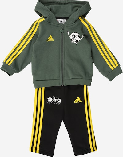 ADIDAS PERFORMANCE Sports suit in yellow / olive / black / white, Item view