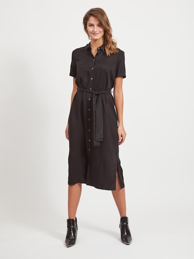 OBJECT Shirt dress 'Isabella' in Black, View model