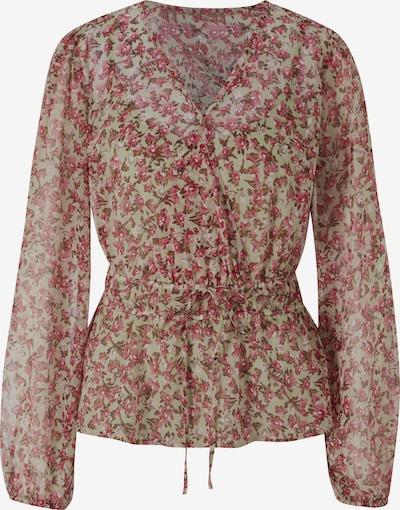 heine Bluse in braun / hellgrün / rosa / himbeer, Produktansicht