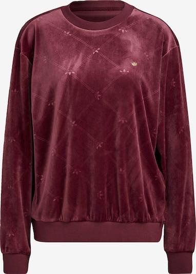 ADIDAS ORIGINALS ' Velvet Embossed adidas Originals Monogram Sweatshirt ' in rot, Produktansicht